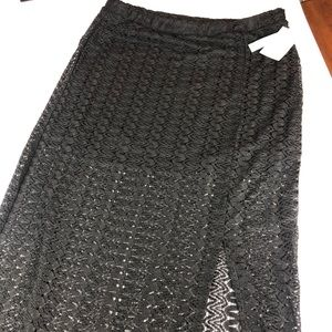 NWT Abound Maxi Crochet Knitted Skirt Large